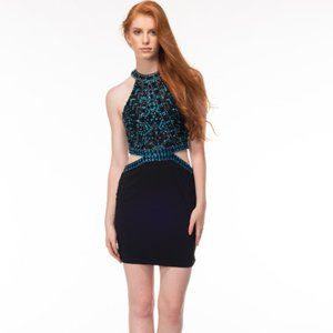 Side Cut-outs, Backless, Blingy Sexy Cruise Dress
